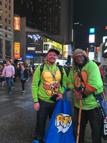Mondo Gecko and Metalhead in Time Square 2016
