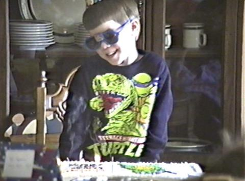 My 5th birthday party. Donatello cake compliments of my wonderful grandmother.