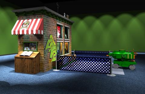 Preliminary concept digital models, Streets of New York—Family Challenge.